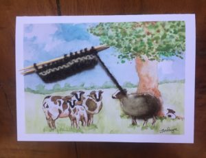 Jacob sheep card