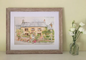 "Devon House Water colour painting by Jackie Payne (A4 print to fit 11""X14"" frame) Price includes P&P but not frame. £23 each"