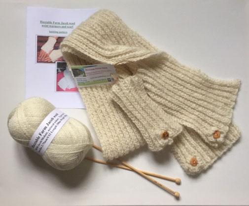 Knitting Kit Rib Scarf & Wrist Warmers £13.95 each