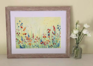 "Wild flowers painting by Jackie Payne (A4 print to fit 11""X14"" frame) Price includes P&P but not frame. £23 each"