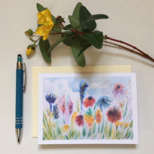 Hazy wildflowers card £2.50 each or 5 for £10