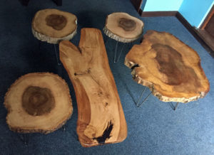 Wood coffee tables made in North Devon