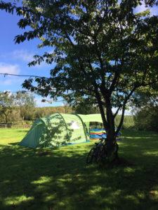 Rural camping on a farm