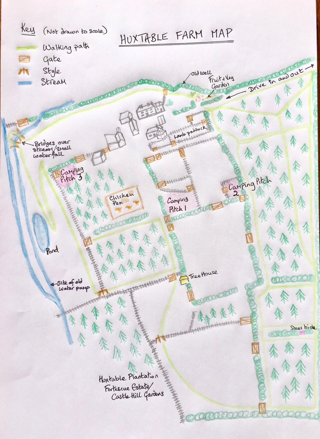Map of Huxtable Farm